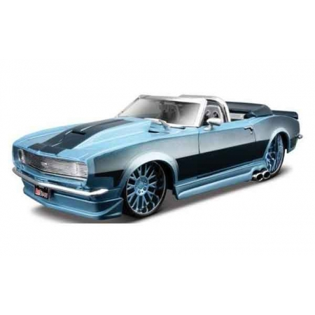 Автомодель (1:24) 1968 Chevrolet Camaro SS синий - тюнинг, Maisto 31089 blue