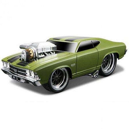 Автомодель (1:24) 1969 Chevrolet Chevelle SS. Maisto 32238 green