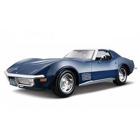 Автомодель (1:24) 1970 Chevrolet Corvette синий, Maisto 31202 blue