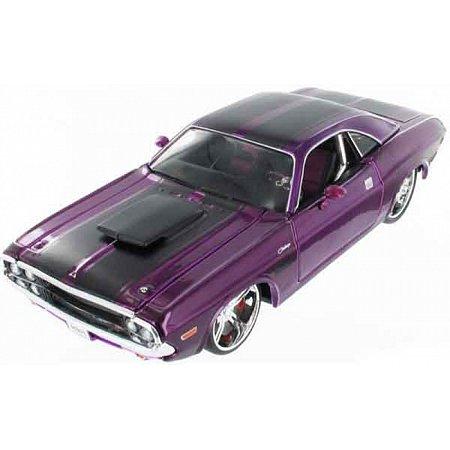 Автомодель (1:24) 1970 Dodge Challenger R/T Coupe фиолетовый - тюнинг, Maisto 31014 purple
