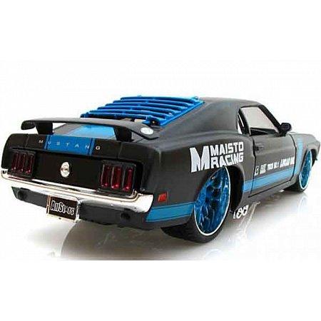 Автомодель (1:24) 1970 Ford Mustang Boss 302 чёрный - тюнинг, Maisto 31329 black