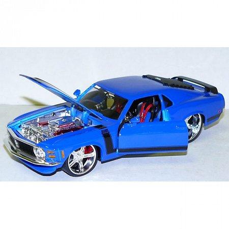 Автомодель (1:24) 1970 Ford Mustang Boss 302 (тюнинг). Maisto 31329 blue