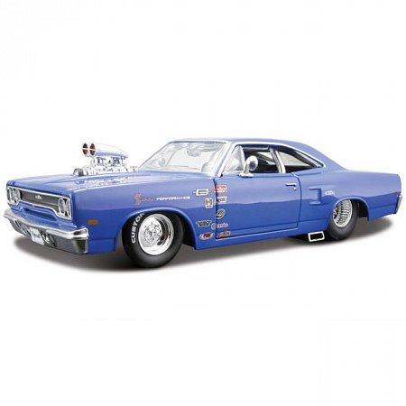 Автомодель (1:24) 1970 Plymouth (тюнинг). Maisto 31306 met. blue