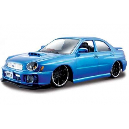 Автомодель (1:24) 2002 Subaru Impreza WRX синий - тюнинг, Maisto 32095 liq. blue