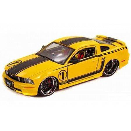 Автомодель (1:24) 2006 Ford Mustang жёлтый - тюнинг, Maisto 31324 yellow