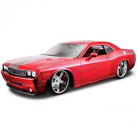 Автомодель (1:24) 2008 Dodge Challenger (тюнинг). Maisto 31327 met. red