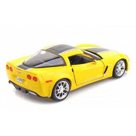 Автомодель (1:24) 2009 Chevrolet Corvette Z06 GT1 жёлтый, Maisto 31203 yellow