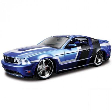 Автомодель (1:24) 2010 Ford Mustang GT (тюнинг). Maisto 31361 blue