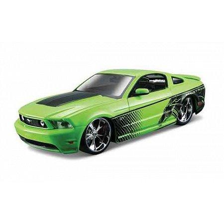 Автомодель (1:24) 2010 Ford Mustang GT зелёный - тюнинг, Maisto 31361 green
