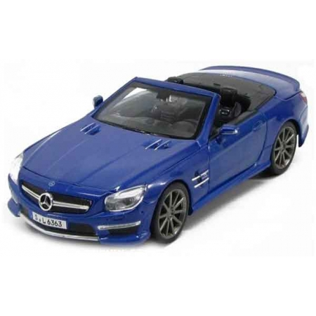 Автомодель (1:24) 2012 Mercedes-Benz SL AMG 63 сonvertible синий металлик, Maisto 31503 met. blue
