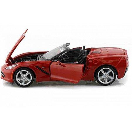 Автомодель (1:24) 2014 Corvette Stingray Convertible красный, Maisto 31501 red