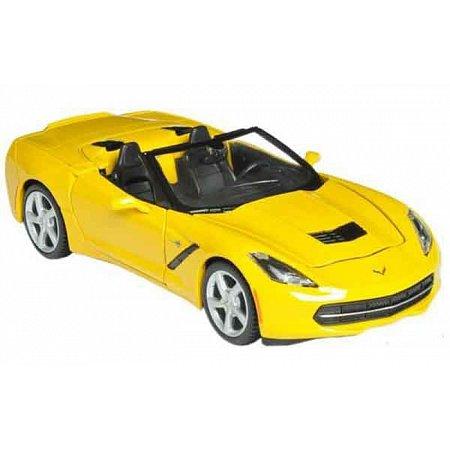 Автомодель (1:24) 2014 Corvette Stingray Convertible жёлтый, Maisto 31501 yellow