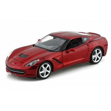 Автомодель (1:24) 2014 Corvette Stingray Coupe красный металлик, Maisto 31505 met. red
