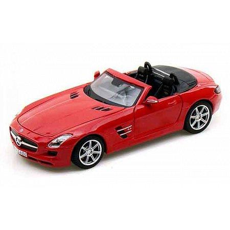 Автомодель (1:24) Mercedes-Benz SLS AMG Roadster красный, Maisto 31272 red