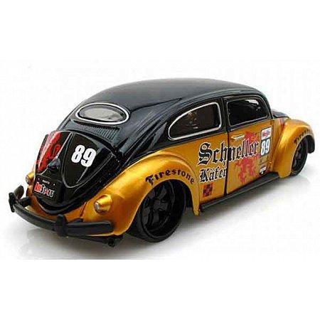 Автомодель (1:24) Volkswagen Beetle чёрно-золотистый, Maisto 31023 black/gold