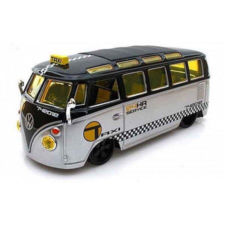 Автомодель (1:25) Volkswagen Van Samba серебристо-чёрный - тюнинг, Maisto 31364 silver/black