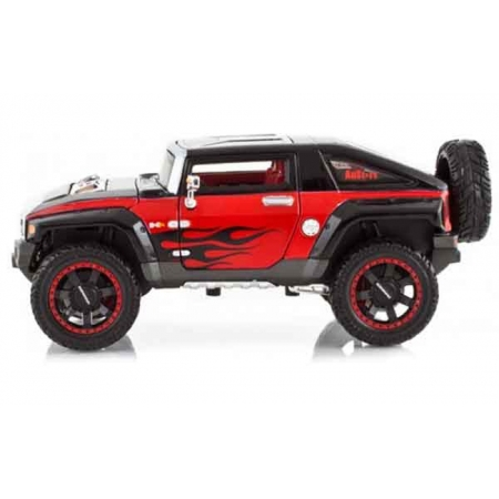 Автомодель (1:27) 2008 Hummer Hx чёрно-красный - тюнинг, Maisto 31309 black/red