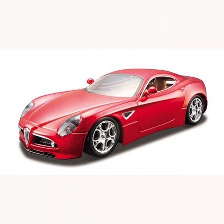 Автомодель Bburago - ALFA 8C COMPETIZIONE (2007) (ассорт. черный металлик, красный металлик, 1:32), 18-43004