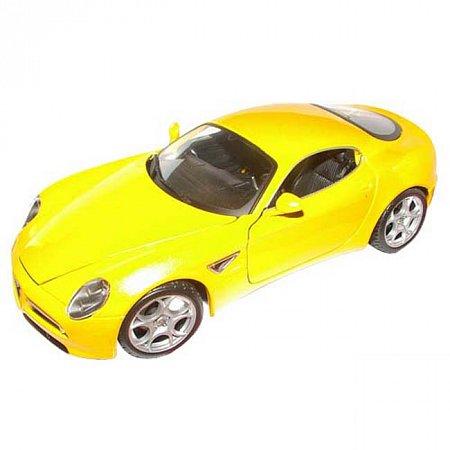 Автомодель Bburago - ALFA 8C COMPETIZIONE (2007) (желтый, 1:18), 18-11021Y