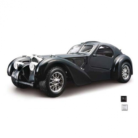 Автомодель Bburago - BUGATTI ATLANTIC (1936) (ассорт. синий, серебристый, 1:24), 18-22092