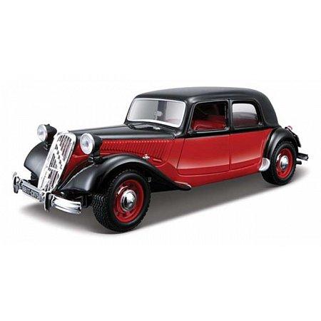 Автомодель Bburago - CITROEN 15 CV TA (1938) (ассорт. черный, красно-черный, 1:24), 18-22017