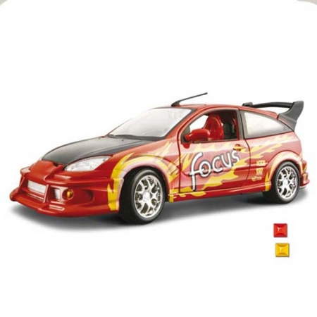 Автомодель Bburago - FORD FOCUS (ассорт. оранжевый, черный, 1:24), 18-23002