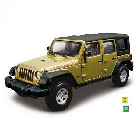 Автомодель Bburago - JEEP WRANGLER UNLIMITED RUBICON (ассорт. зеленый металлик, зеленый, 1:32), 18-43012
