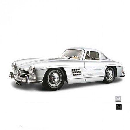 Автомодель Bburago - MERCEDES-BENZ 300 SL (1954) (ассорт. красный, серебристый, 1:24), 18-22023