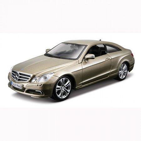 Автомодель Bburago - MERCEDES-BENZ E-CLASS COUPE (ассорт. золотой металлик, серебристый металлик, 1:32), 18-43027