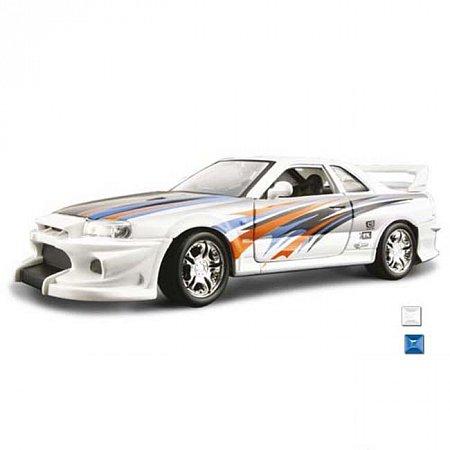 Автомодель Bburago - NISSAN SKYLINE R34 GT-R (ассорт. синий, черный, 1:24), 18-23004