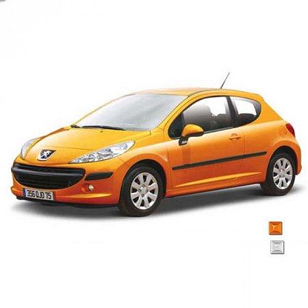 Автомодель Bburago - PEUGEOT 207 (ассорт. серебристый, медный металлик, 1:24), 18-21027