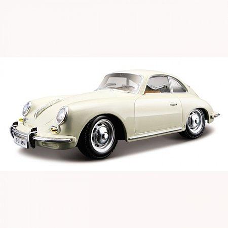 Автомодель Bburago - PORSCHE 356B (1961) (ассорт. слоновая кость, красный, 1:24), 18-22079