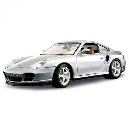 Автомодель Bburago - PORSCHE 911 TURBO (серебристый, 1:18), 18-12030S