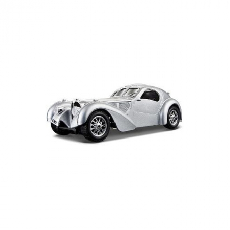 Автомодель - BUGATTI ATLANTIC (1936) 1:24, серебристый, BBURAGO (18-22092-2)