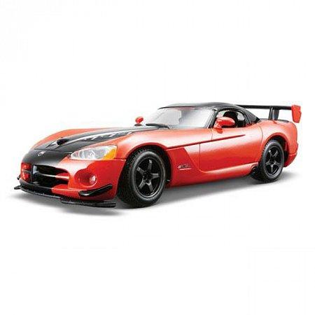 Автомодель - DODGE VIPER SRT10 ACR (ассорти оранж-черн металлик, красн-черн металлик, 1:24), BBURAGO (18-22114)