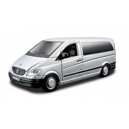 Автомодель - MERCEDES-BENZ VITO (ассорти серебристый, черный, 1:32), BBURAGO (18-43028)