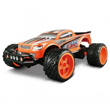 Автомодель на р/у Extreme Beast, 2.4 GHz (аккум. 7.4V Li -ion + 2хАА), оранжевый, Maisto 81128 orange