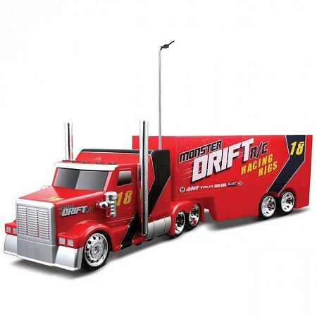 Автомодель на р/у Hauler Drift + Trailer (тягач+трейлер, управляемый занос), Maisto 81170 red
