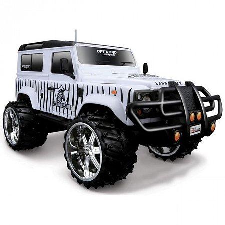 Автомодель на р/у Land Rover Defender (бело-черный), Maisto 81096 white/black MAISTO