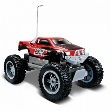 Автомодель на р/у Rock Crawler Jr, красный, Maisto 81162 red