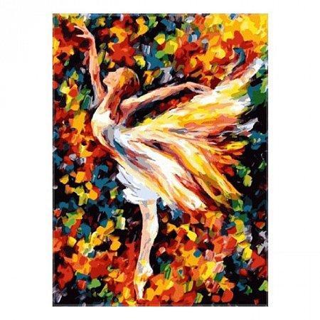 Балет, Серия Люди, рисование по номерам, 40 х 50 см, Идейка, Балерина (KH1019)