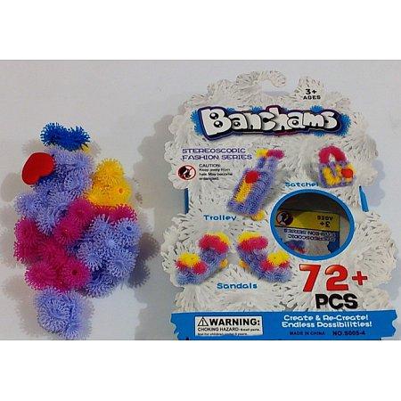 Банчемс - Конструктор липучка Bunchems Magic Puffer Ball, 72 элем + акс, S005-4
