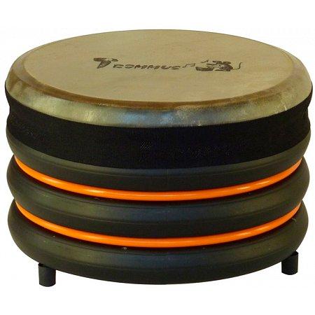 Барабан из натуральной кожи (18 x 28 см), оранжевый, Trommus, C1u