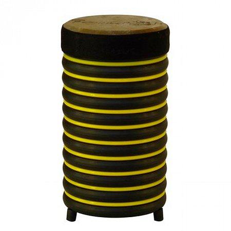 Барабан из натуральной кожи (31 x 17 см), желтый, Trommus, A2u