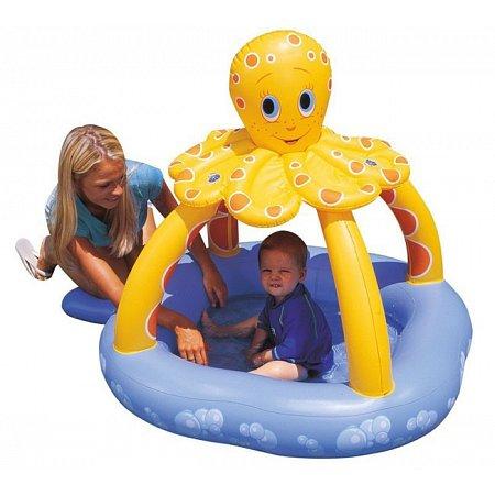 Бассейн детский надувной с навесом Осьминог, Bestway 52145 (102x102x102 см)