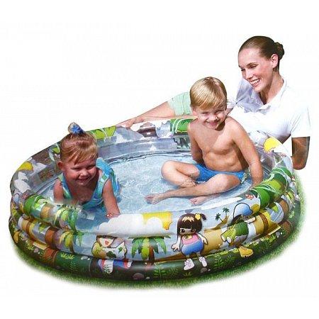 Бассейн надувной детский Летний Кристалл, Bestway 51040 (122x25 см)
