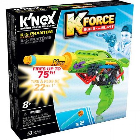 Бластер K-5 Phantom (53 детали), набор для конструирования, K`nex, 47538