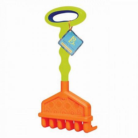 Большие грабельки (цвет красный-лаймовый), игрушка для игры с песком, Battat, BX1443Z