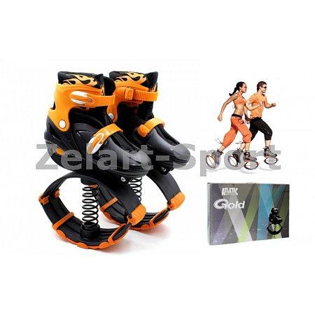 Ботинки на пружинах Фитнес джамперы Kangoo Jumps SK-901H-OR(39-42) (PL, PVC, L, оранжевый)