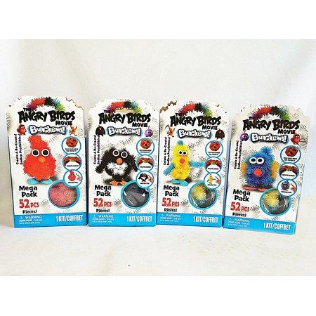 Bunchems Angry Birds - Конструктор липучка Банчемс, 52 элем + акс, 57200-1-2-3-4